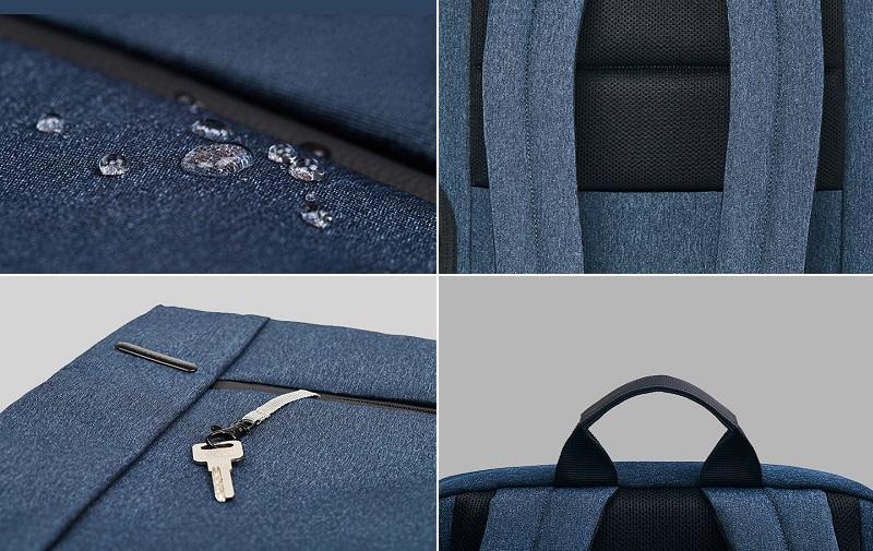 Рюкзак RunMi 90 Points Classic Business Backpack водонепроницаемость и ремни