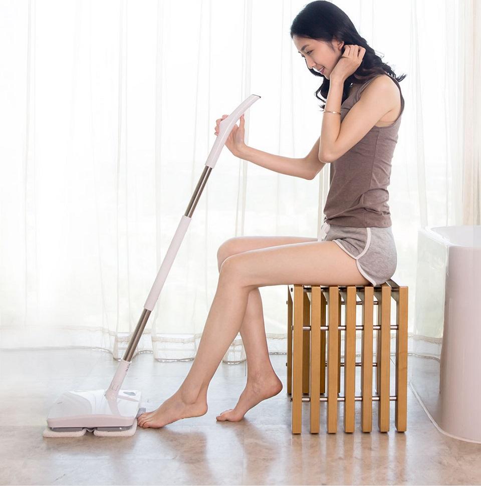 SWDK Полотер/Электрошвабра Handheld Electric Mop девушка с полотером