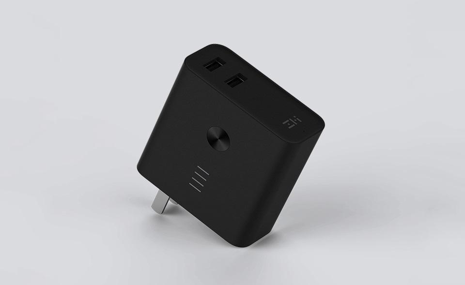 Зарядное устройство с Power Bank ZMI APB01A (5200 mAh) разъемы