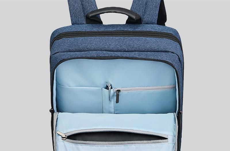 Рюкзак RunMi 90 Points Classic Business Backpack карманы на замках