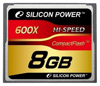 Карта памяти Silicon Power 8GB 600X Professional Compact Flash Card SP008GBCFC600V10