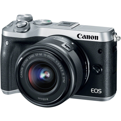 Фотоаппарат Canon EOS M6 Kit EF-M 15-45 IS STM Silver