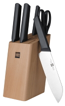 Набор кухонных ножей Xiaomi Huo Hou Kitchen Knife Youth Version (6 psc)