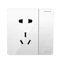 Розетка с выключателем Xiaomi OPPLE Lighting Wall Switch Socket White K12 One Billing + Five Holes