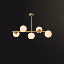 Люстра Xiaomi Huayi Nordic Simple Luxury Chandelier 5 Lamps Gold